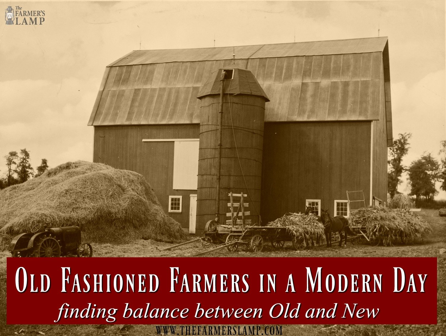 hight resolution of old fashioned farmers in a modern day