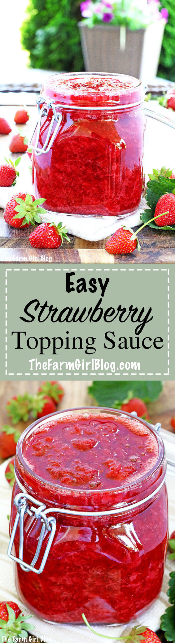 This Easy Strawberry Topping Sauce Recipe is my super simple and delicious go-to recipe for whatever you desire. It only has two ingredients, it's that easy! It is perfect on pancakes, waffles, ice cream, soaking cake sponges, or any desserts, like cheesecake is one example.