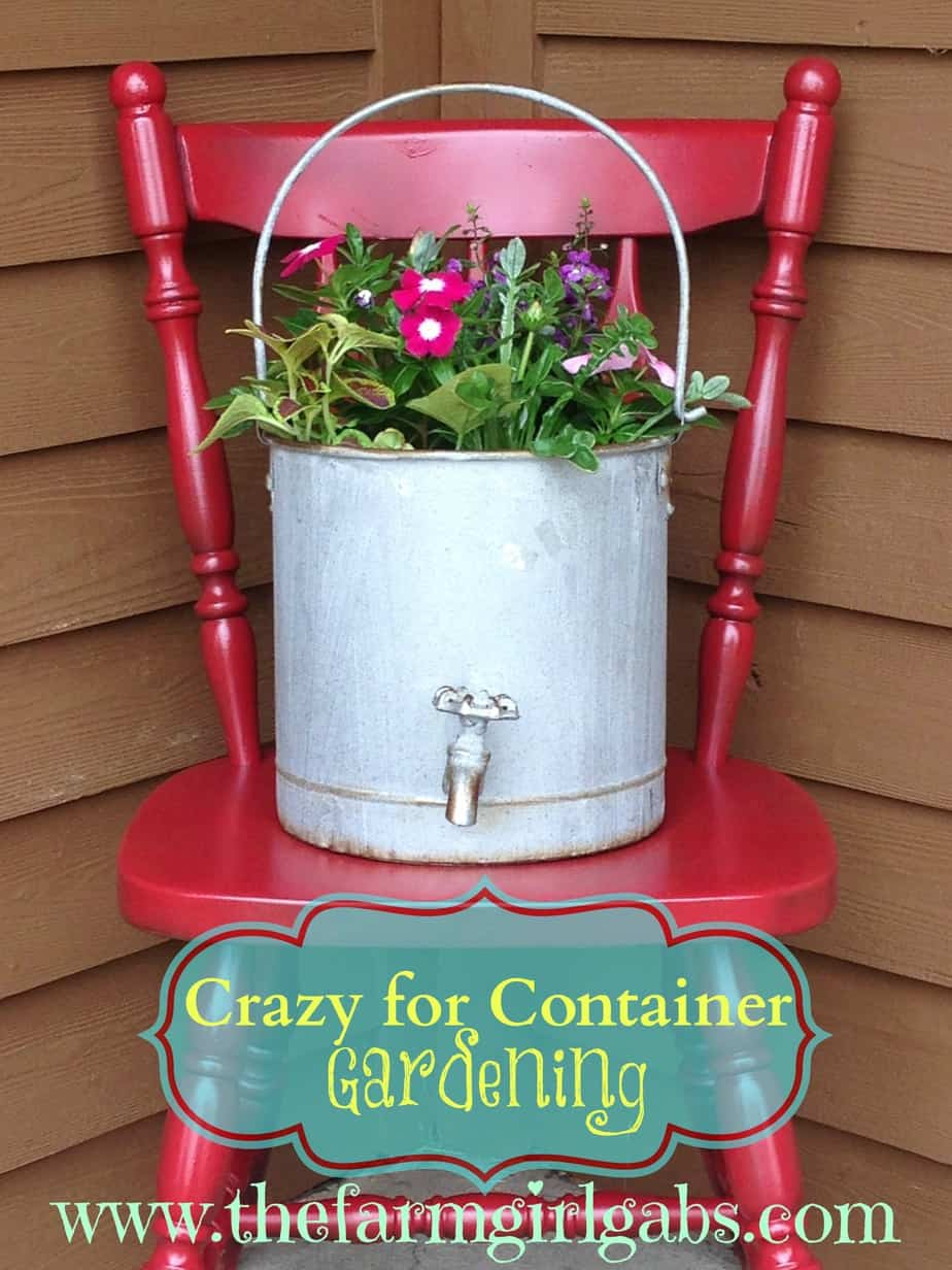 chair planter stand baby bouncy age crazy about container gardening thefarmgirlgabs