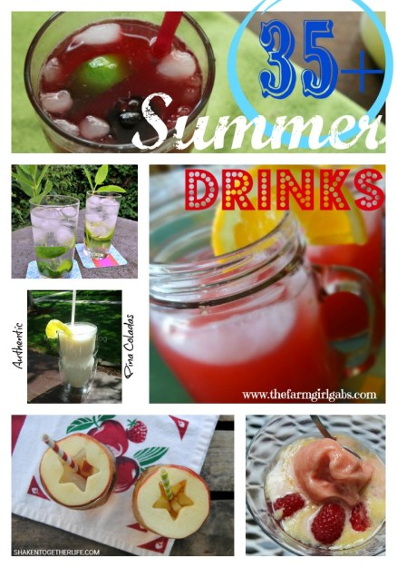 Summer Drink Pinterest Collage