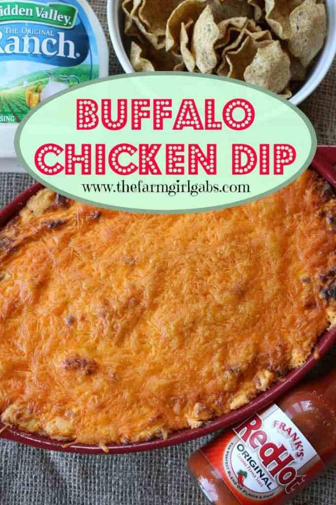 Buffalo Chicken Dip from How Does Your Garden Grow? {www.thefarmgirlgabs.com}