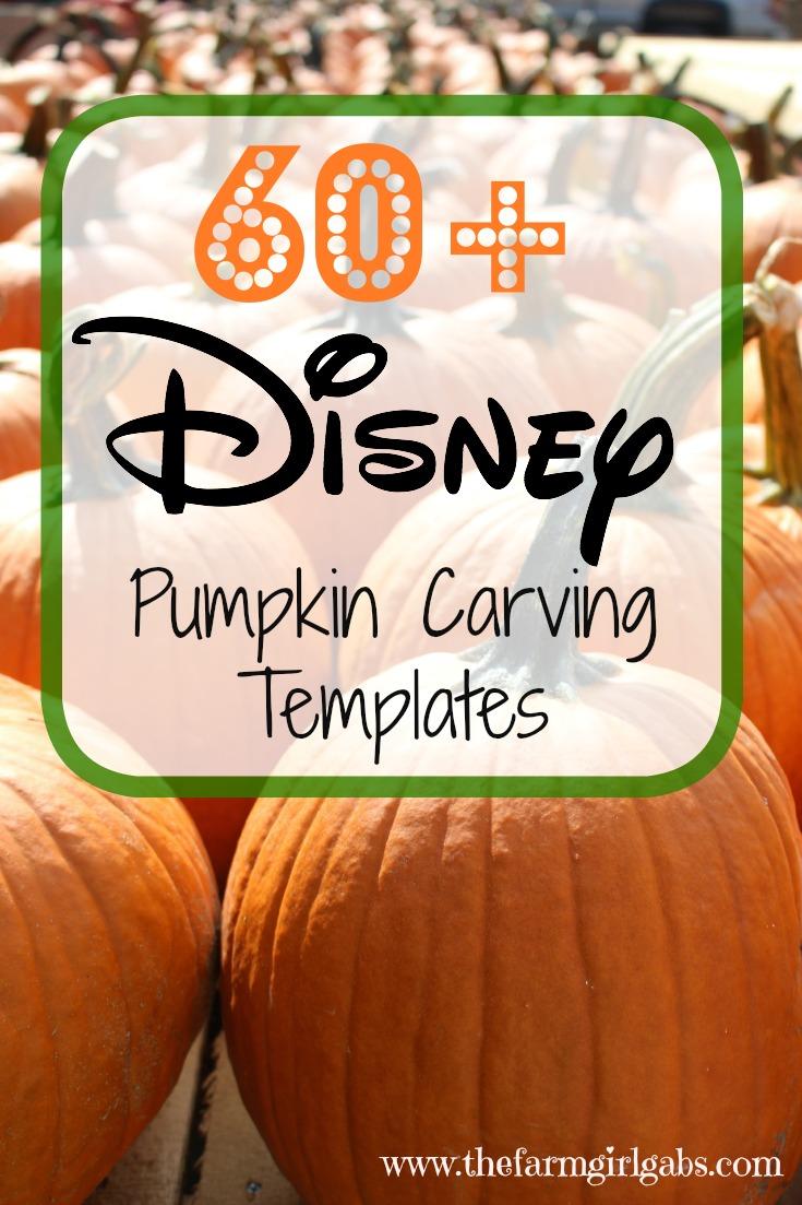 Over 60 Disney Pumpkin Carving Templates to create your Disney pumpkin masterpiece this Halloween.