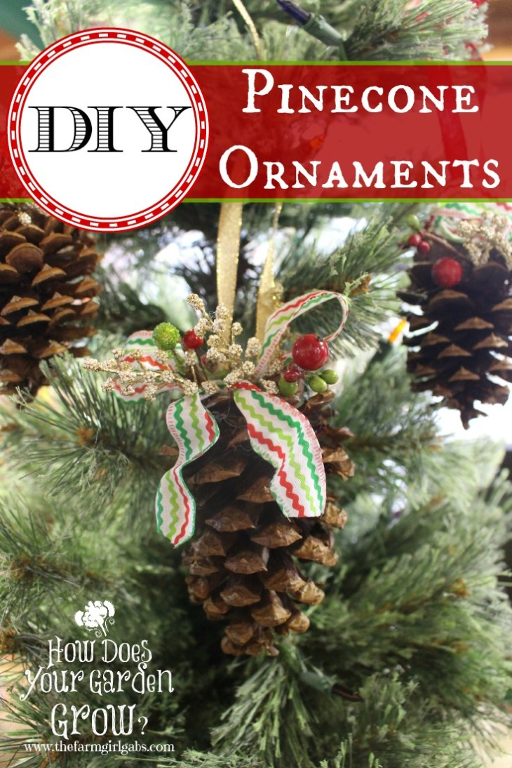 Create your own DIY Rustic Pinecone Christmas Ornaments. This is an easy  craft project for