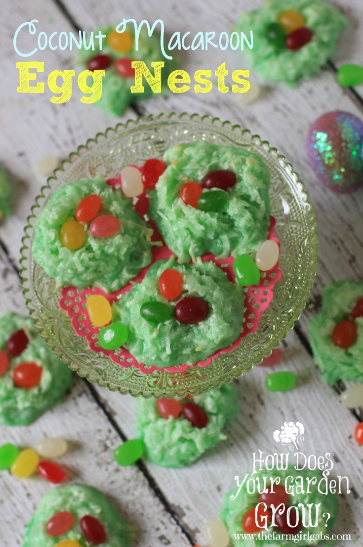 Coconut Macaroon Egg Nests are a fun and easy Easter treat. These coconut macaroon cookies are the perfect Easter treat for family and friends.