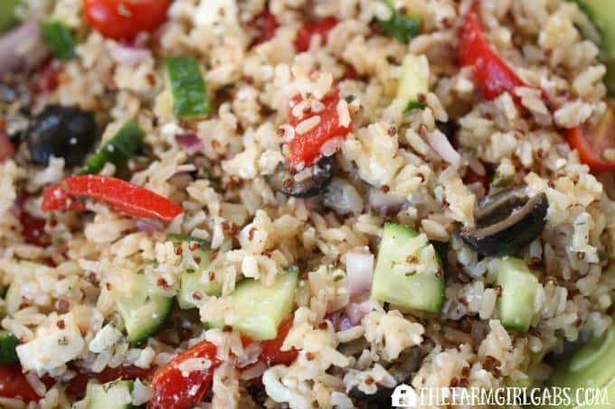 Mediterranean Rice Salad - Feature 1