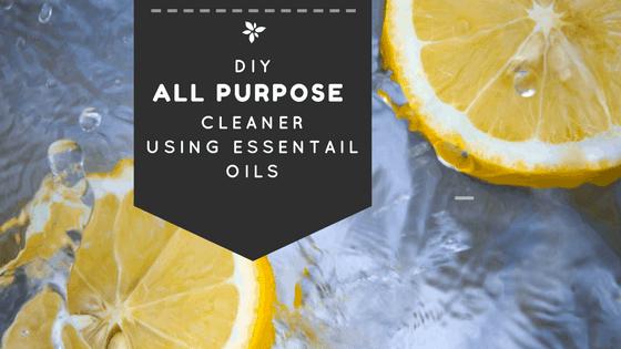 DIY All Purpose Cleaner Using Essential Oils