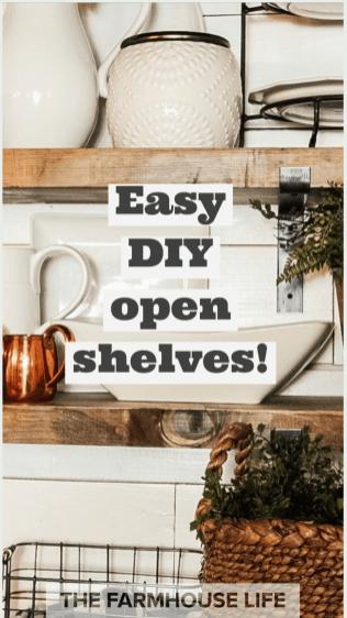 farmhouse open shelves