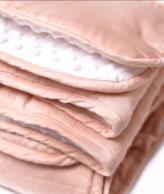 Pink blanket.