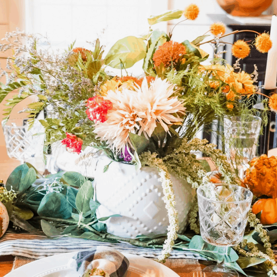 Easy and affordable Thanksgiving centerpiece