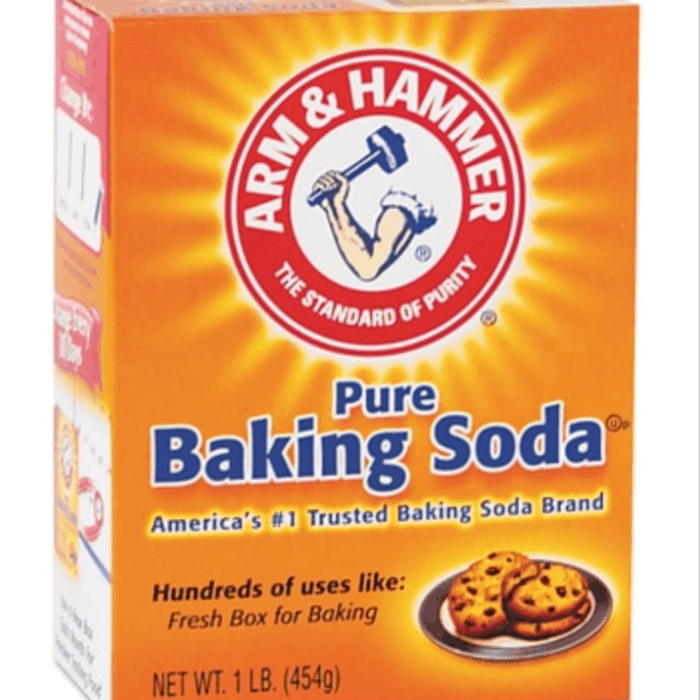 baking soda in orange box