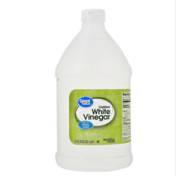 Gallon size white vinegar.