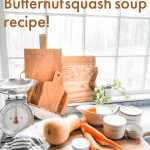 cutting boards and giant window. butternut squash carrots food scale