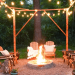 night time outdoor fire pit