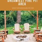 Creating a dreamy fire pit area