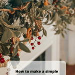 How to make a simple DIY string garland for your Christmas mantel