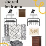 Boys sharedroom desdign plan