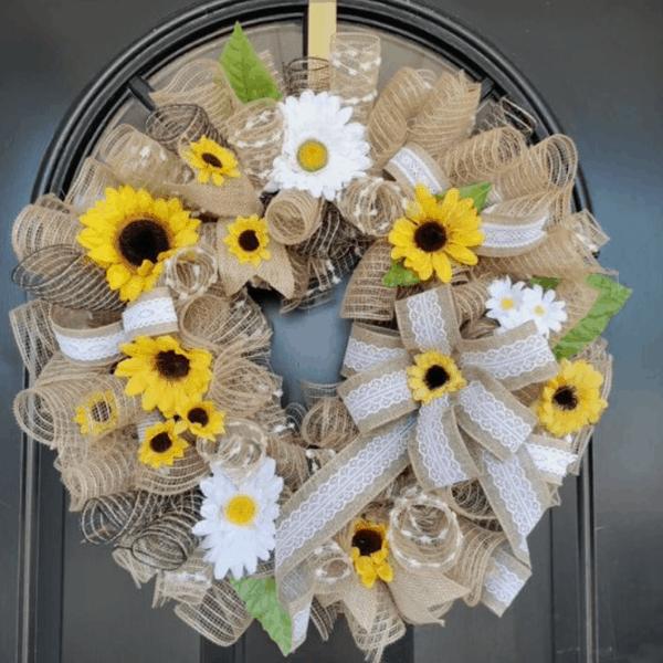 rustic farmhouse wreath