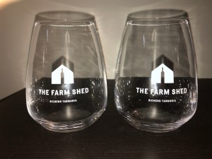 Our Bespoke Farm Shed wine glasses are two for $40 or a pack of six for $100