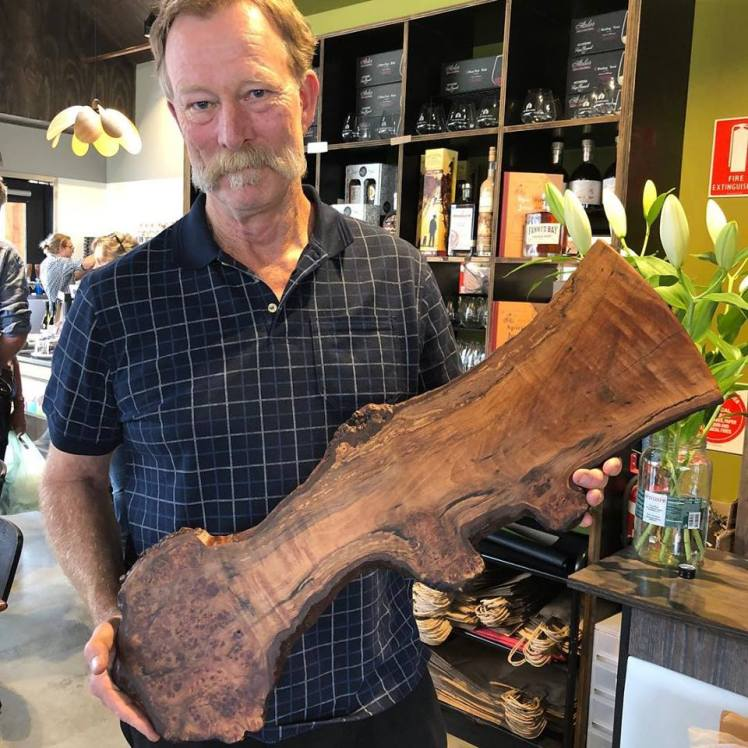 Guy Henderson with one of his 'bread boards'