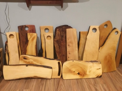 Tasmanian timber 'bread boards' handcrafted by Guy Henderson
