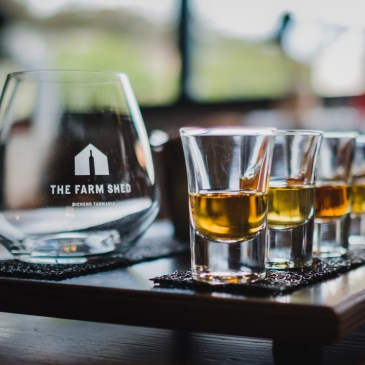 Encounter the best Tasmanian whiskies, gins and wine at The Farm Shed East Coast Wine Centre