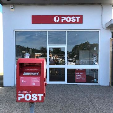 The new Bicheno Post Office is at 1/39 Foster Street, Bicheno, next door to the newsagent