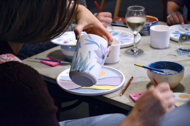 Decorate your own unique cup and plate with Glazed and Confused Ceramics workshop at The Farm Shed