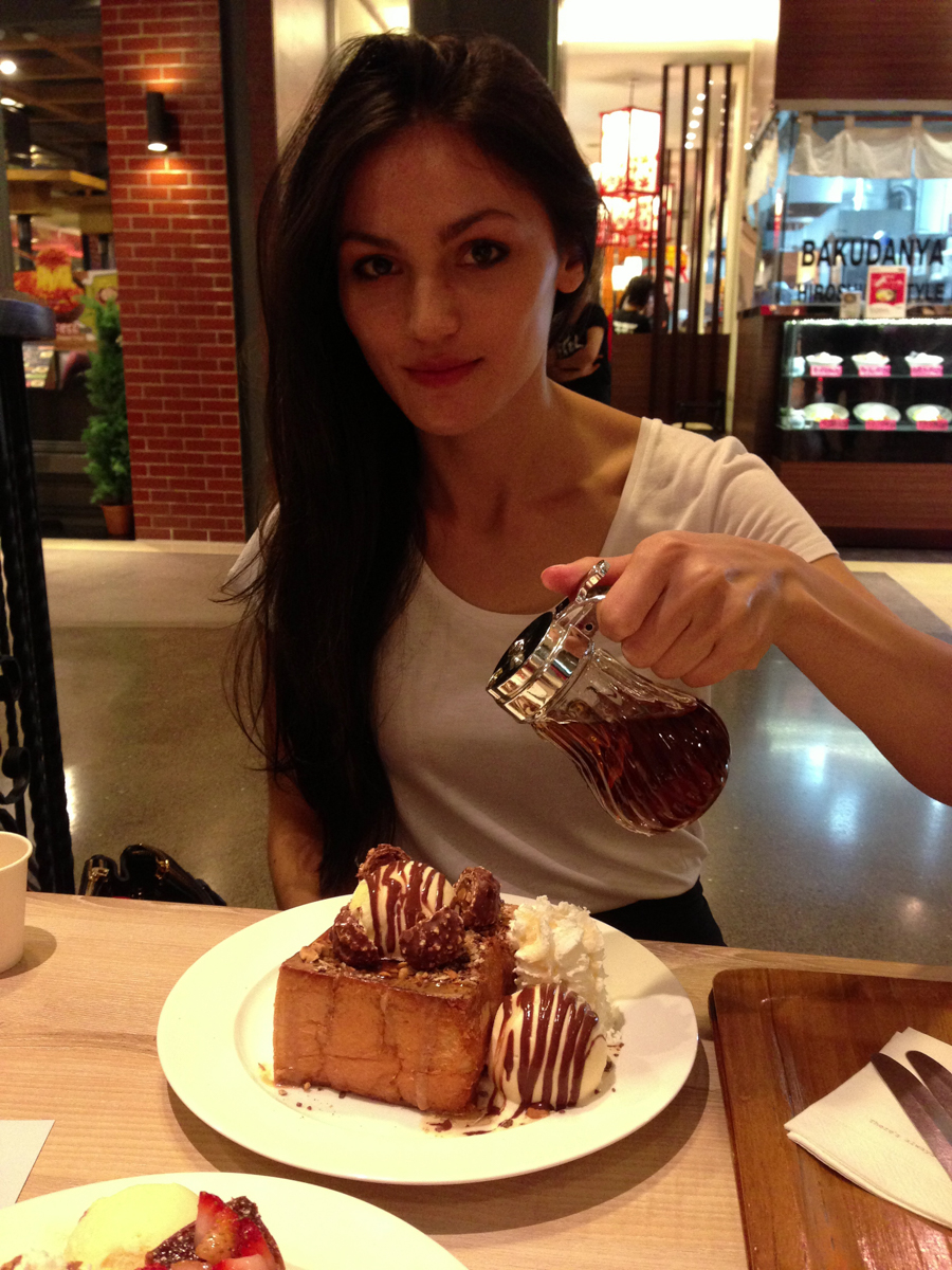Ferrero Rocher Shibuya honey toast at After You cafe Bangkok.