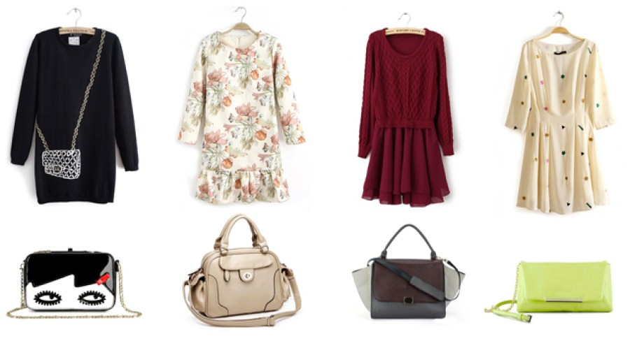 Dress & bag collage wish list.