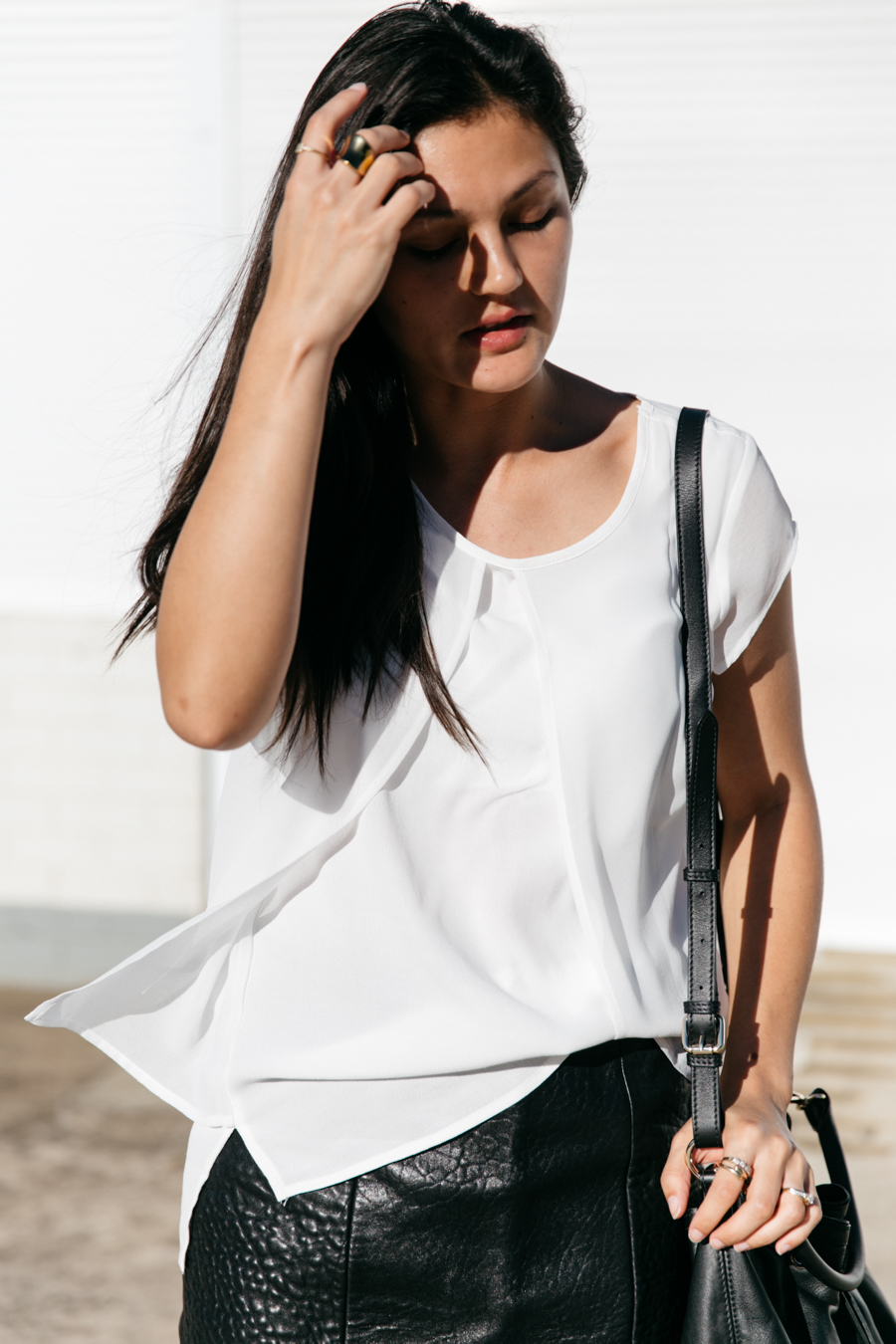 White layered split top from jeanswest.