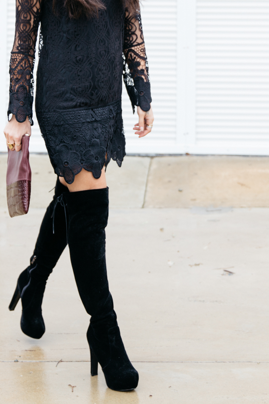How to wear over the knee boots.