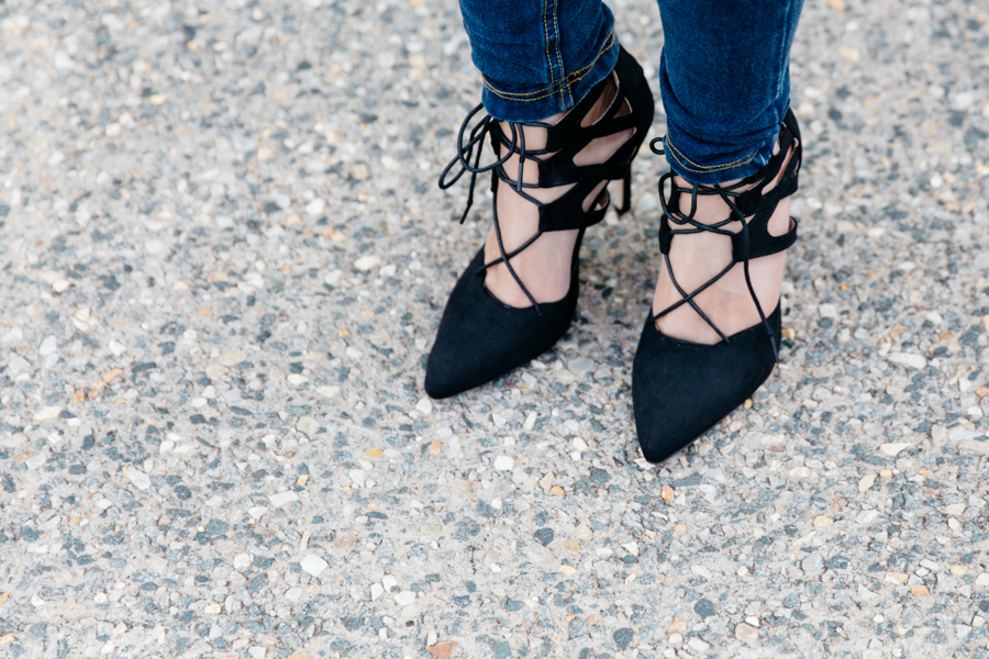 Lace up heels from Gamiss.