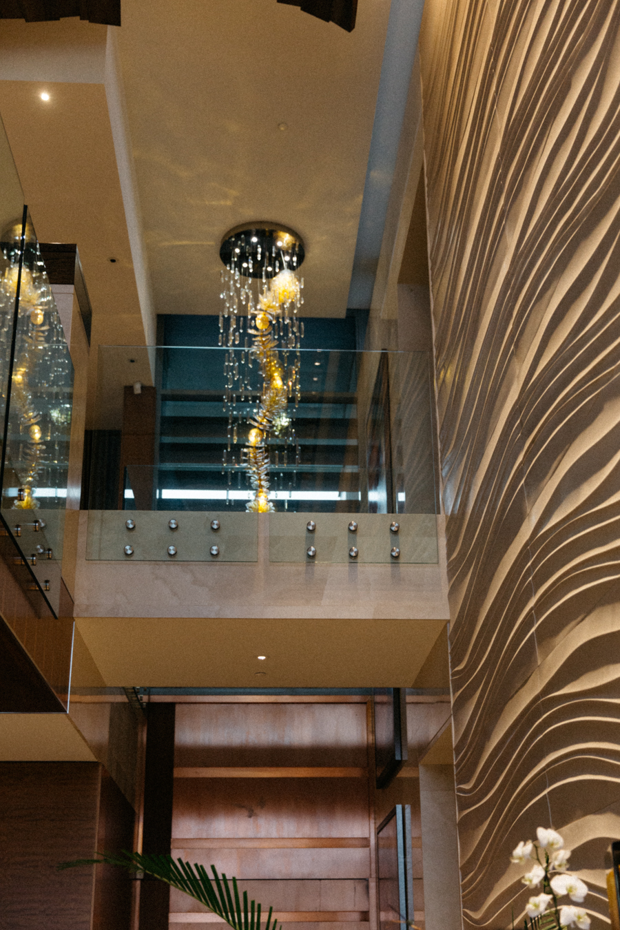 Lighting decor of a Crown Perth mansion.