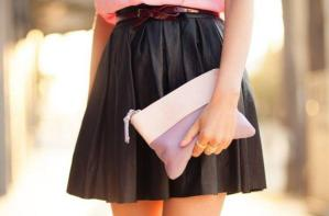 GIRLY LEATHER SKIRT