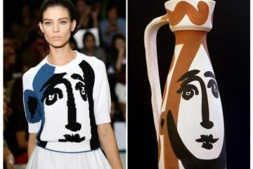 Jil Sander spring '12 collection by Raf Simons knit images of a Picasso face