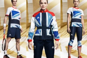 Andy Murray, Victoria Pendleton and Jessica Ennis in the 2012 kit