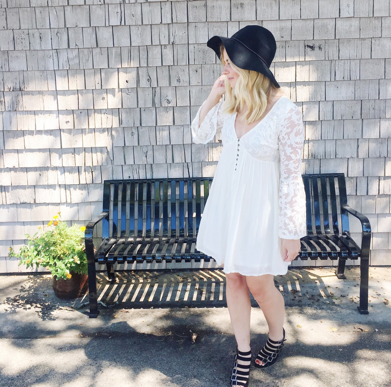 Style Steal: White Lace Dress