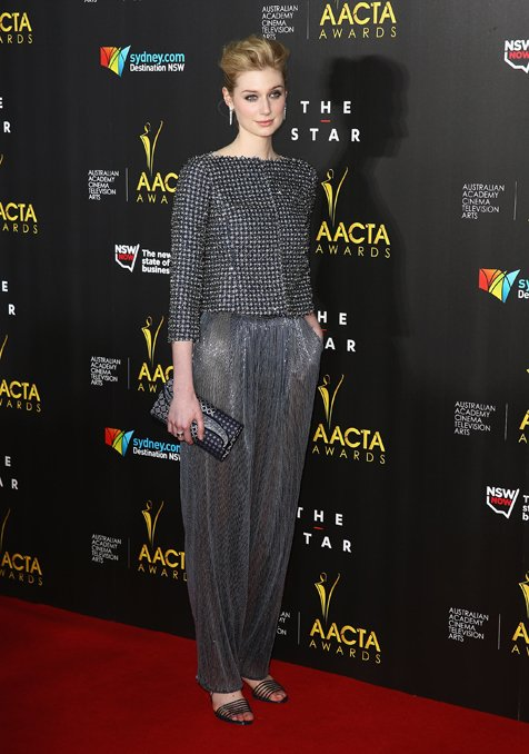 Elizabeth Debicki Looking Stunning In Giorgio Armani Privé At The 2014 AACTA Awards