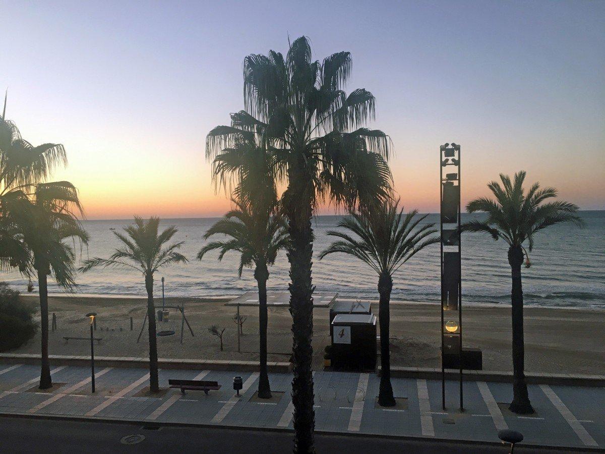 sunset over Llevant beach