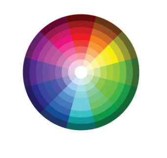 Set of color wheel 12 color rgb on white background