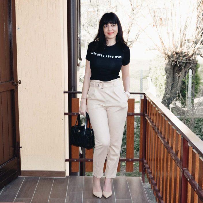 Come indossare un paio di pantaloni a vita alta - The Fashion Cherry Diary
