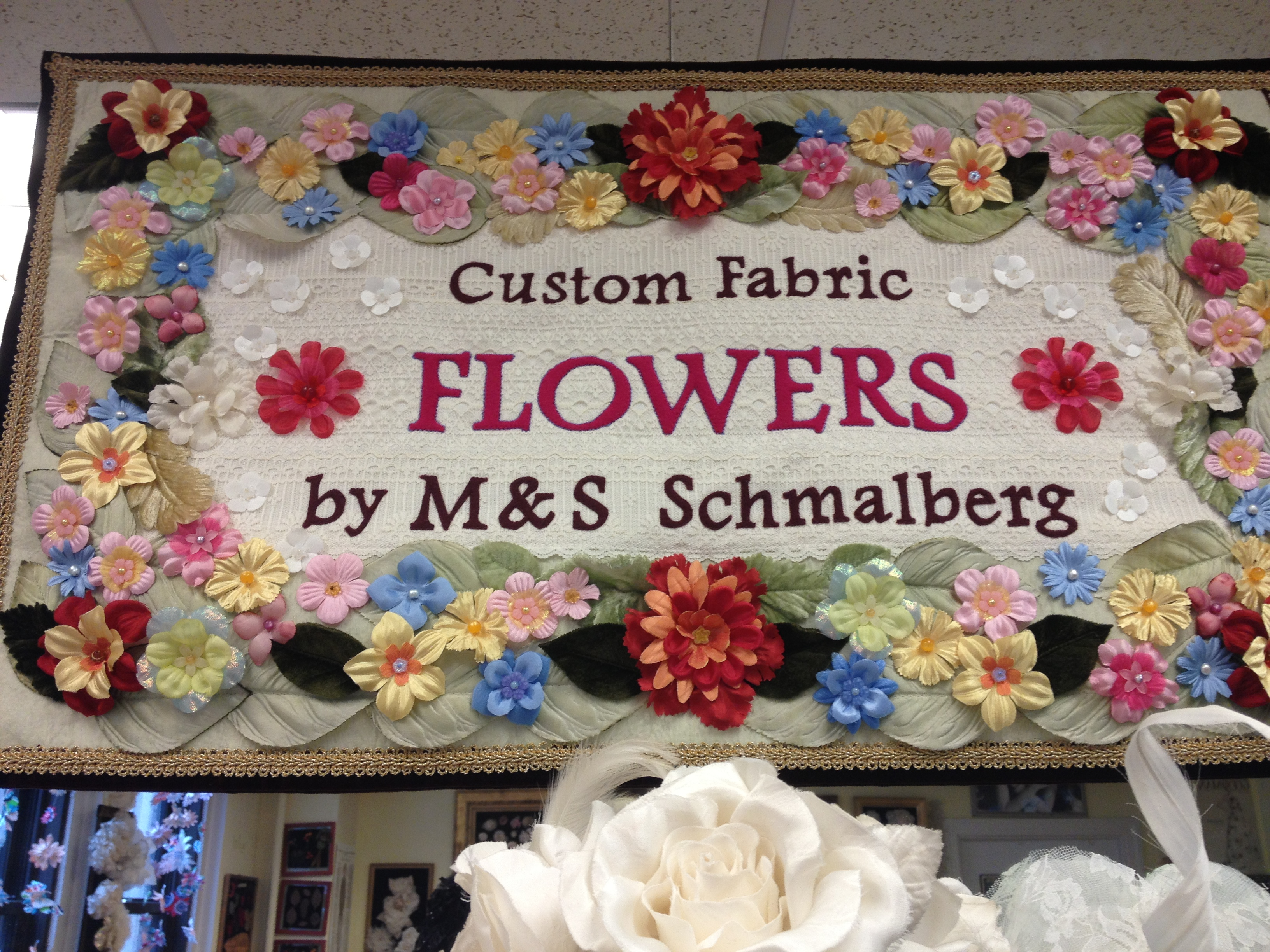 Custom Fabric Flowers by M & S Schmalberg