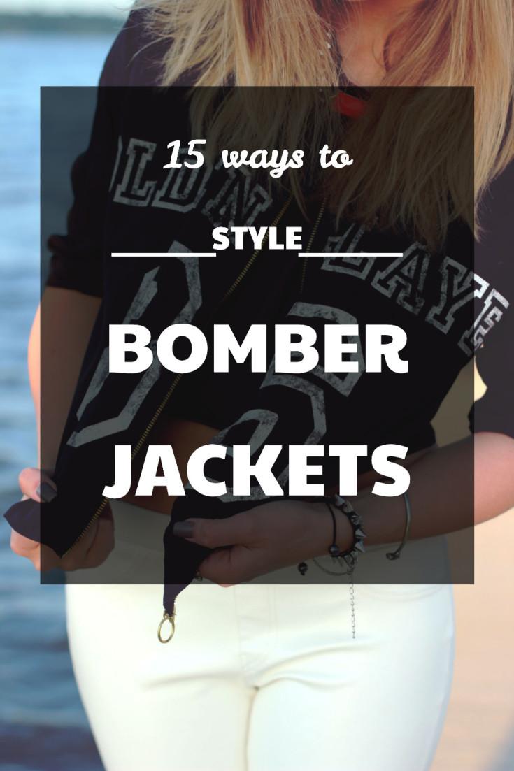 style a bomber jacket