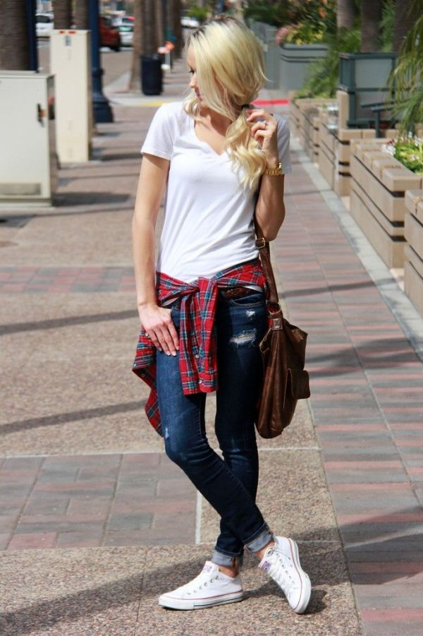 white-shirt-and-plaid-top