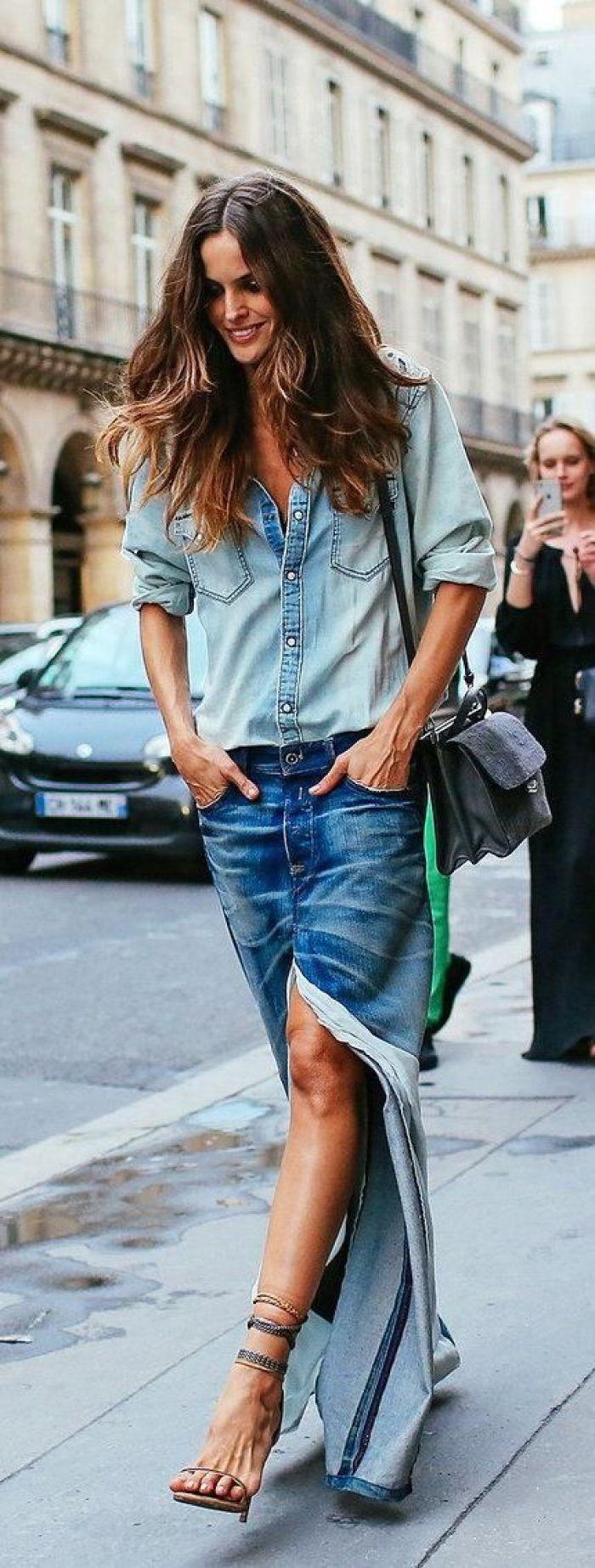 denim over denim fashion