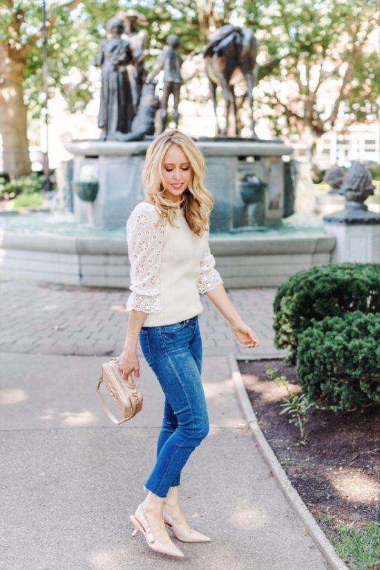 Fall transitional dressing Rebecca Taylor sweater