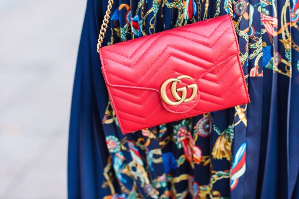 Red Gucci Marmont bag