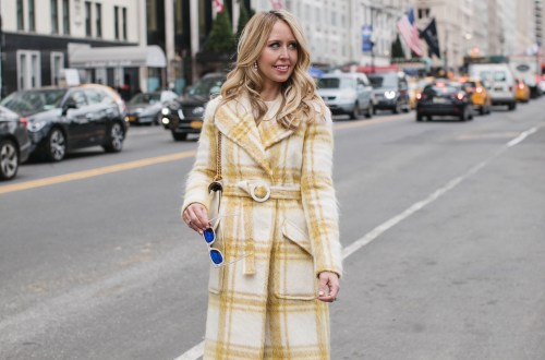 Alexa Chung Checked Coat