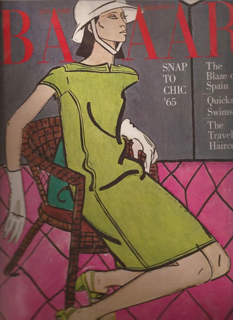 DONYALE LUNA'S 1965 Harper Bazaar cover.