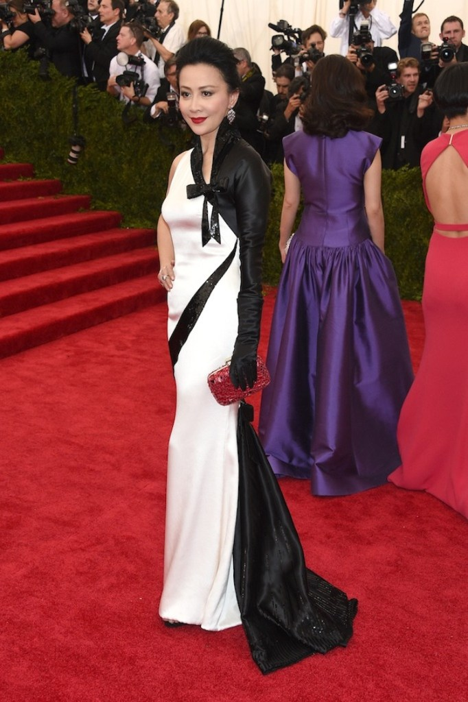 """NEW YORK, NY - MAY 04:  Carina Lau attends the """"China: Through The Looking Glass"""" Costume Institute Benefit Gala at the Metropolitan Museum of Art on May 4, 2015 in New York City.  (Photo by Larry Busacca/Getty Images)"""